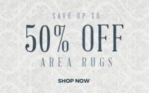 50% off area rugs