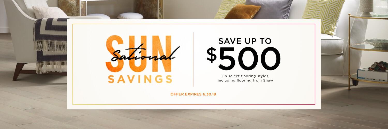 Sun Sational Savings Banner | IQ Floors