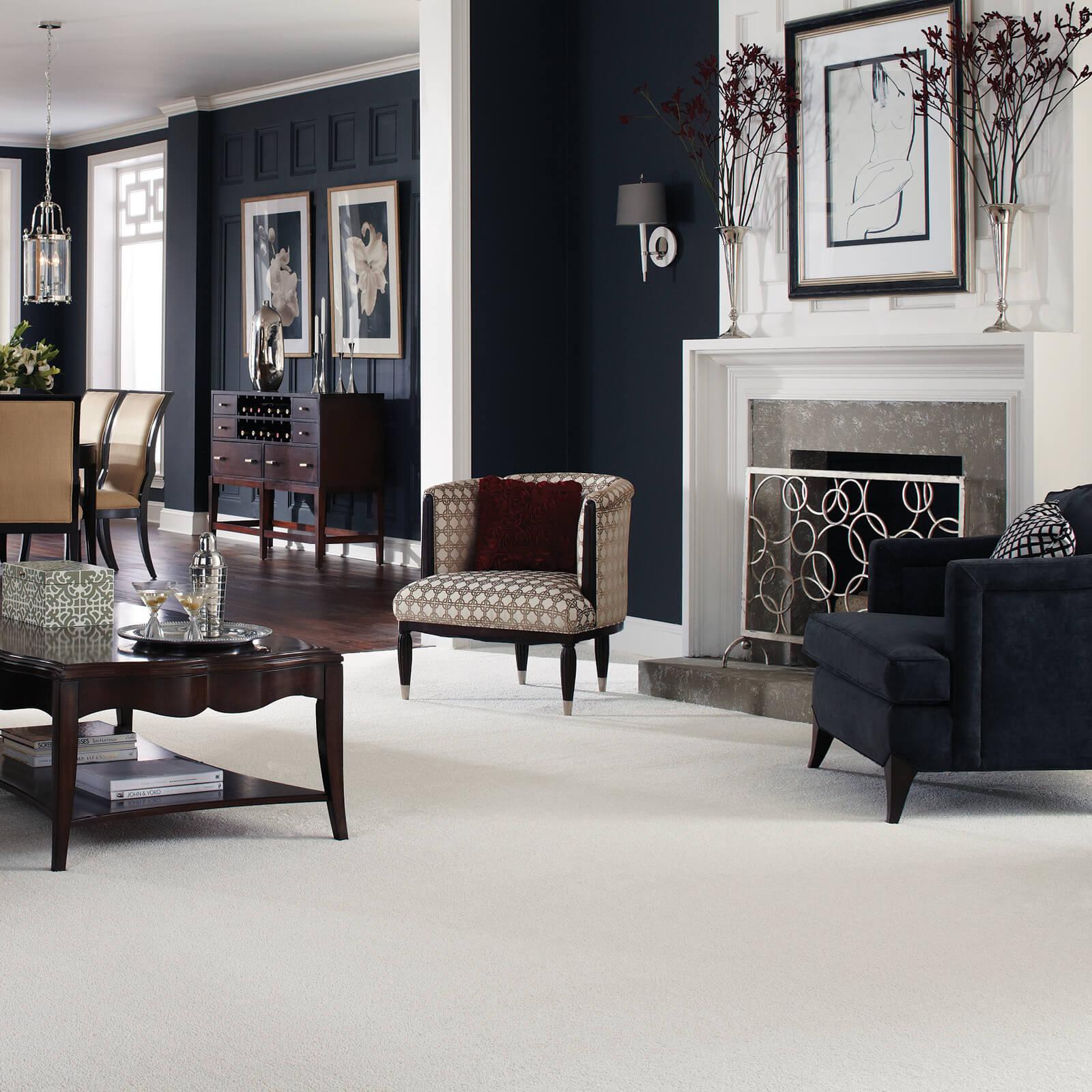 Carpet in living room   IQ Floors
