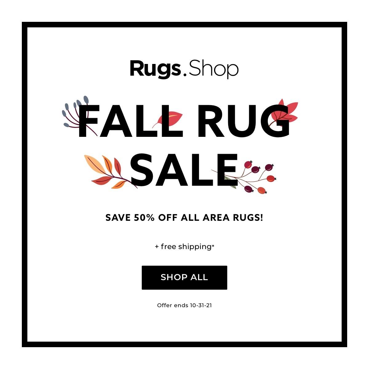 Fall rug sale banner | IQ Floors